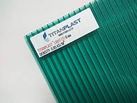 Поликарбонат сотовый TitanPlast 2,1х6м 6 мм зеленый