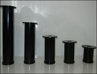 Ножка  мебельная, опора для мебели H80 мм D50 мм. Черный глянец/черный матовый