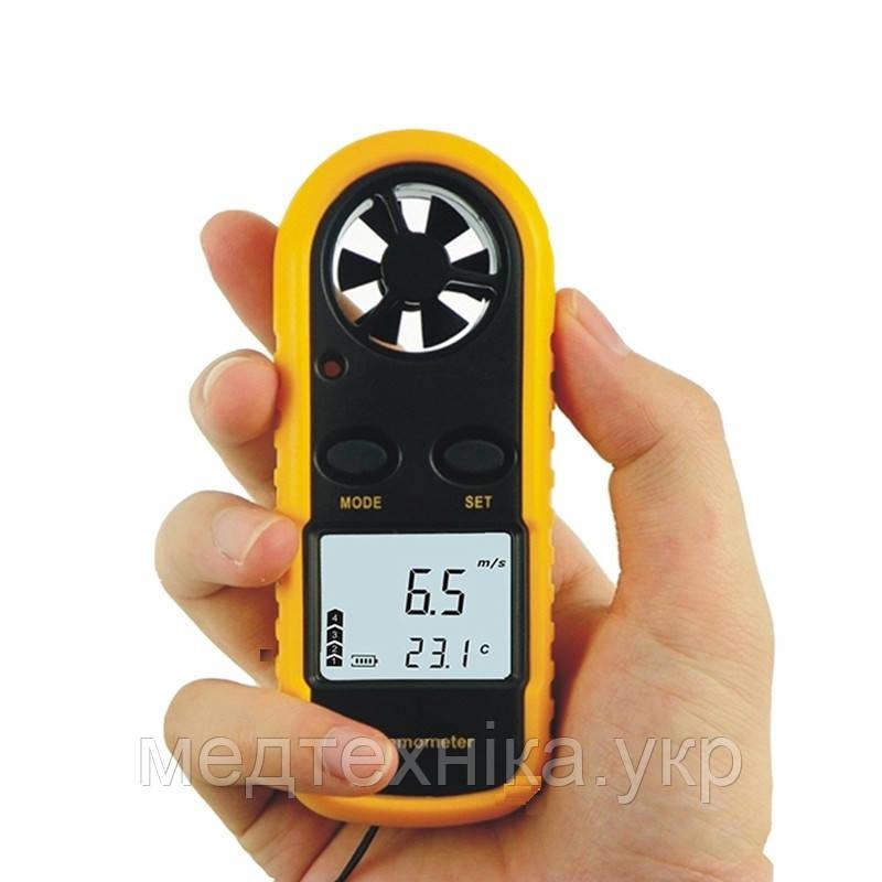 Цифровой анемометр GM-816 (TAM816 Mini) (0,7 - 30 м/с) (дискретность - 0,1м/с) с измерением температуры