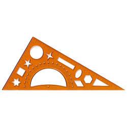 Треугольник проз. 20 см, 60х90х30 транспор.+трафарет геом. ф-р