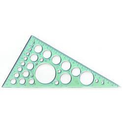 Треугольник проз. 20 см, 60х90х30 трафарет окружностей