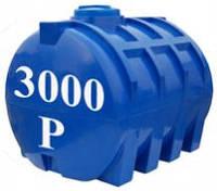 Емкость горизонтальная круглая Евро Пласт 3000 литров (с двойной стенкой)