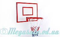 Щит баскетбольный с кольцом и сеткой: щит 60х50см, кольцо 30см