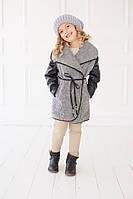 Куртка-жилетка Lux кожаный рукав - 2