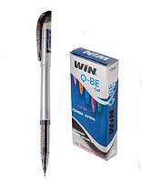 Ручка гелевая, 0.6мм, черн., QBE, WIN