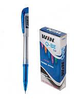 Ручка гелевая, 0.6мм, син., QBE, WIN