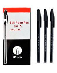 Ручка шариковая, черная, LR-555