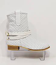 Женские белые ботинки с перфорацией, фото 2