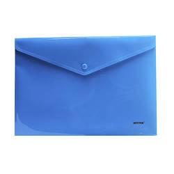 Папка с кнопкой, непрозр., А4, PР, 5017, NORMA, синяя