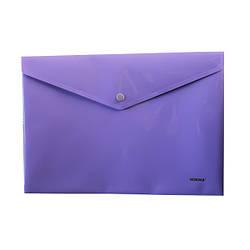 Папка с кнопкой, непрозр., А4, PР, 5017, NORMA, фиолет.