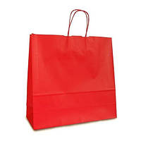 Крафт-пакет 32х13х42,5 красный с витыми ручками
