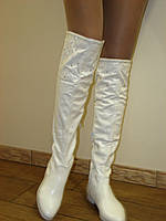 Сапоги ботфорты женские белые свадебные 35-40