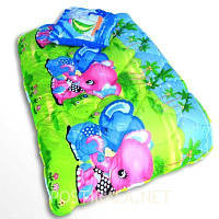 Детское закрытое силиконовое одеяло  110x140 с подушкой 50х50