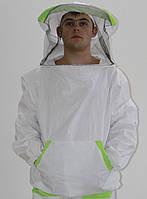 Куртка пчеловода с вшитыми кольцами на молнии