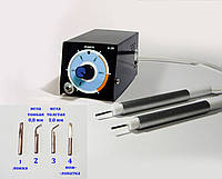 Электрошпатель зуботехнический B-2R,8W,450 градусов, 2 ручки 2 мм или 2,5 мм,насадки медные