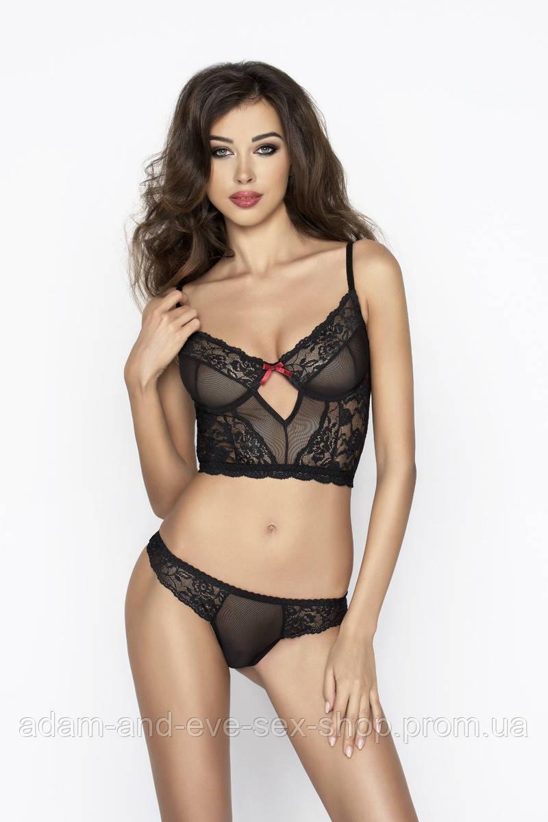 Комплект эротического белья Passion Erotic Line LEXINE SET черный XXL\XXXL