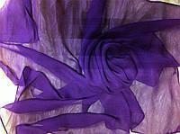 Шифоновый шейный платок размер 65 см цвет фиолетовый