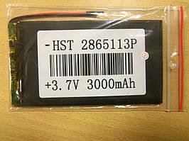 Внутрішній Акумулятор 2.8*64*114 (3000 mAh 3,7 V) 2865113 AAA клас в Запоріжжі