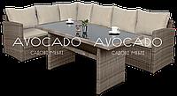 Комплект плетеный CAPRIZE  BEZ 184х242  см + стол
