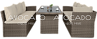 Комплект плетеной мебели CAPRIZE  BEZ 184х242  см + стол