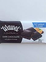 Шоколад без сахара Wawel черный с кусочками апельсина Польша 100г