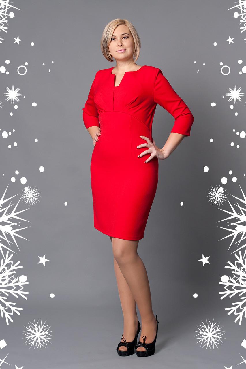 db86d45d6b9 Купить оптом Нарядное красное платье больших размеров в Хмельницком ...