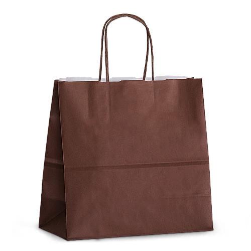 Крафт-пакет 25x11x24 шоколадный с витыми ручками