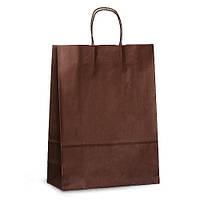 Пакеты 32x13x42,5 шоколадные с витыми ручками
