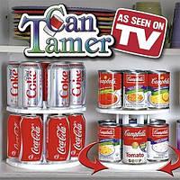 Подставка для банок и консервов Can Tamer, вращающаяся двухуровневая подставка