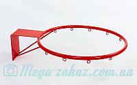 Баскетбольное кольцо 45см с упором (корзина баскетбольная): диаметр трубы 12мм