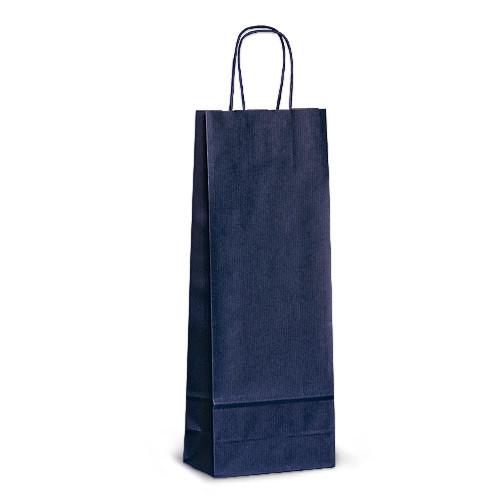 Пакет 15x08x40 синий под бутылку для вина, фото 1