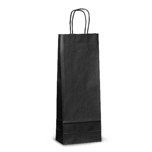 Пакет 15x08x40 черный под бутылку для вина