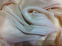Платок шифоновый шейный размер 64 см цвет бежевый