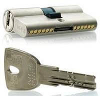 Цилиндр замочный Iseo R90 Gera 85мм (30x55) ключ-ключ хром