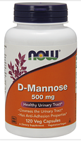 Д-Манноза, Now Foods, D-Mannose, 500mg, 120 caps