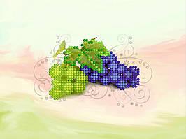 """Схема для вышивки бисером """"Виноград"""", набор-магнит 8,5х13,5 см"""