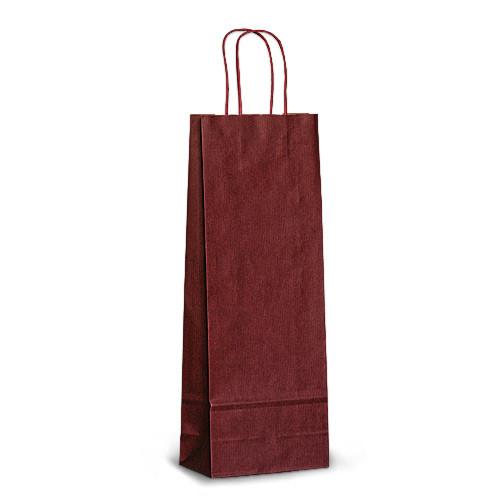 Пакет 15x08x40 бордовый под бутылку для вина