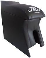 Подлокотник Daewoo Lanos, Sens (Деу Ланос, Сенс) Люкс черный с вышивкой