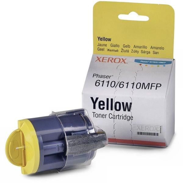 Заправка картриджа 106R01204 принтера Xerox Phaser 6110 Yellow