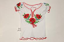 Вышиванка короткий рукав на девочку 26-32 р Украина.