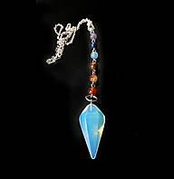 Кулон-радуга c 8 натуральными камнями «Неземной опал»