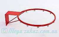 Баскетбольное кольцо 40см с упором (корзина баскетбольная): диаметр трубы 16мм