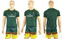 Форма футбольная детская без номера AC MILAN резервная зеленая