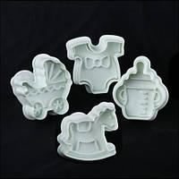 Плунжера для мастики Детские 4 шт, фото 1