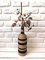 Бутылка декорированная (Brown & Dark brown)