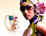 Кольцо «Жемчужина Сваровски», бижутерный сплав, кристаллы, купить