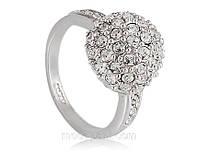 Кольцо «Исполнение желаний», кристаллы Сваровски, напыление белым золотом, купить