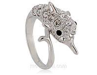 Кольцо «Серебряный дельфин», Кристаллы Сваровски, купить, фото 1