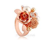 Кольцо «Цветочная композиция», кристаллы Сваровски, цветочная декорация, купить