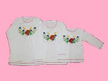 Модная детская вышиванка для девочек интерлок.